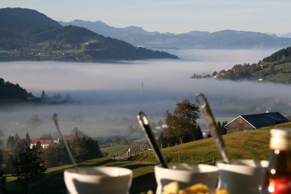 einfach genial und nicht zu toppen: Haubers Bergfrühstück am Schwalbennest Natur pur auf 950 Höhenmeter