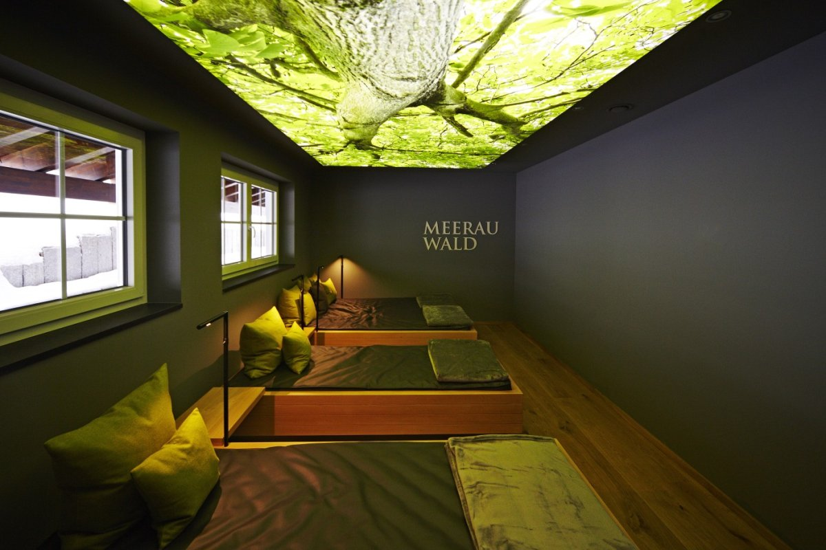 Das Wellnesshotel Haubers bietet Wellness und Ruhe im neuen Meerauwald-Zimmer. (Oberstaufen im Allgäu)