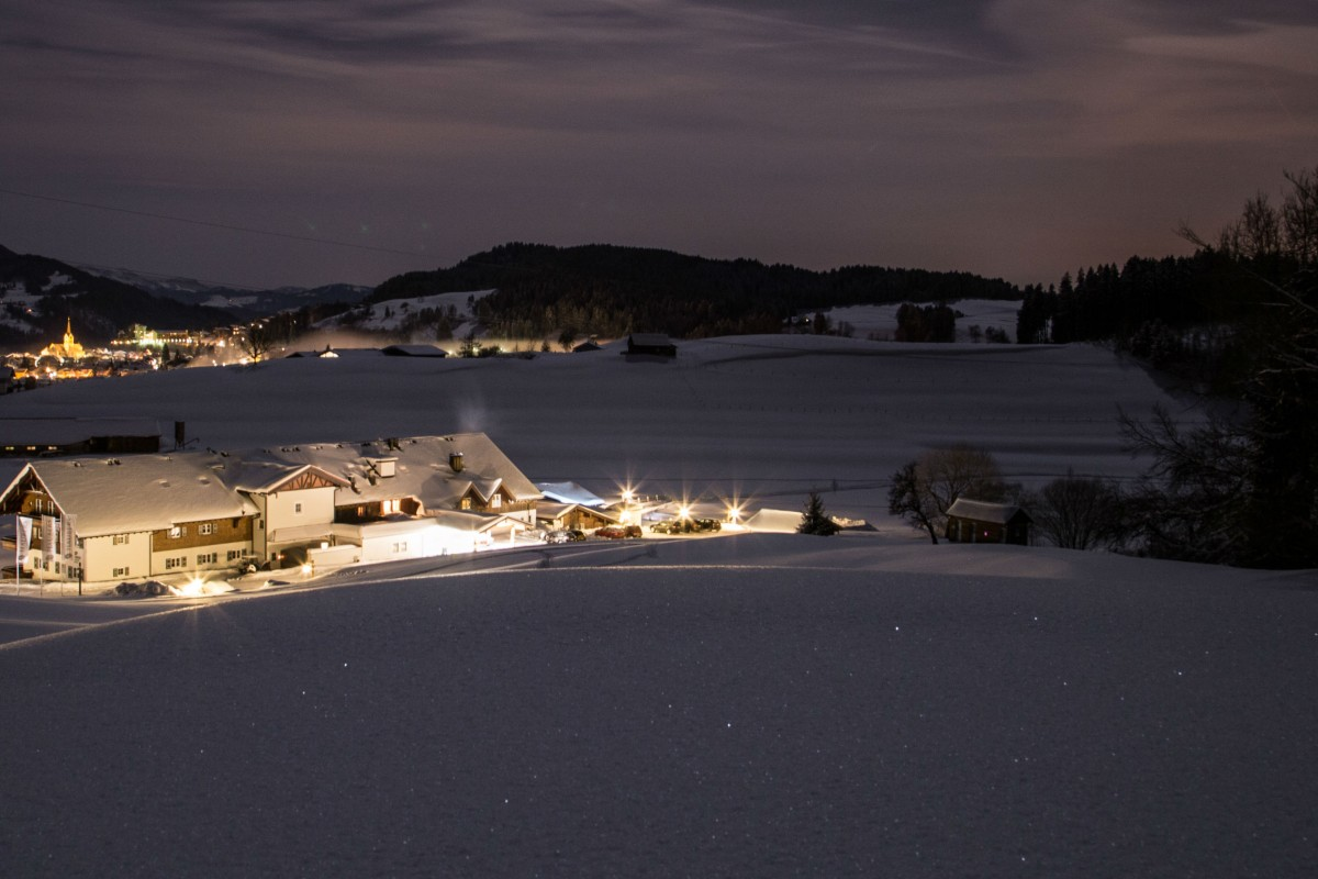 Winter, Nacht, Alpenresort, Gutshof, Natur