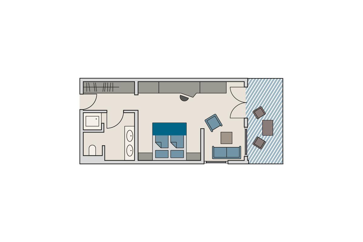 Zimmergrundriss Landhaus - Studio