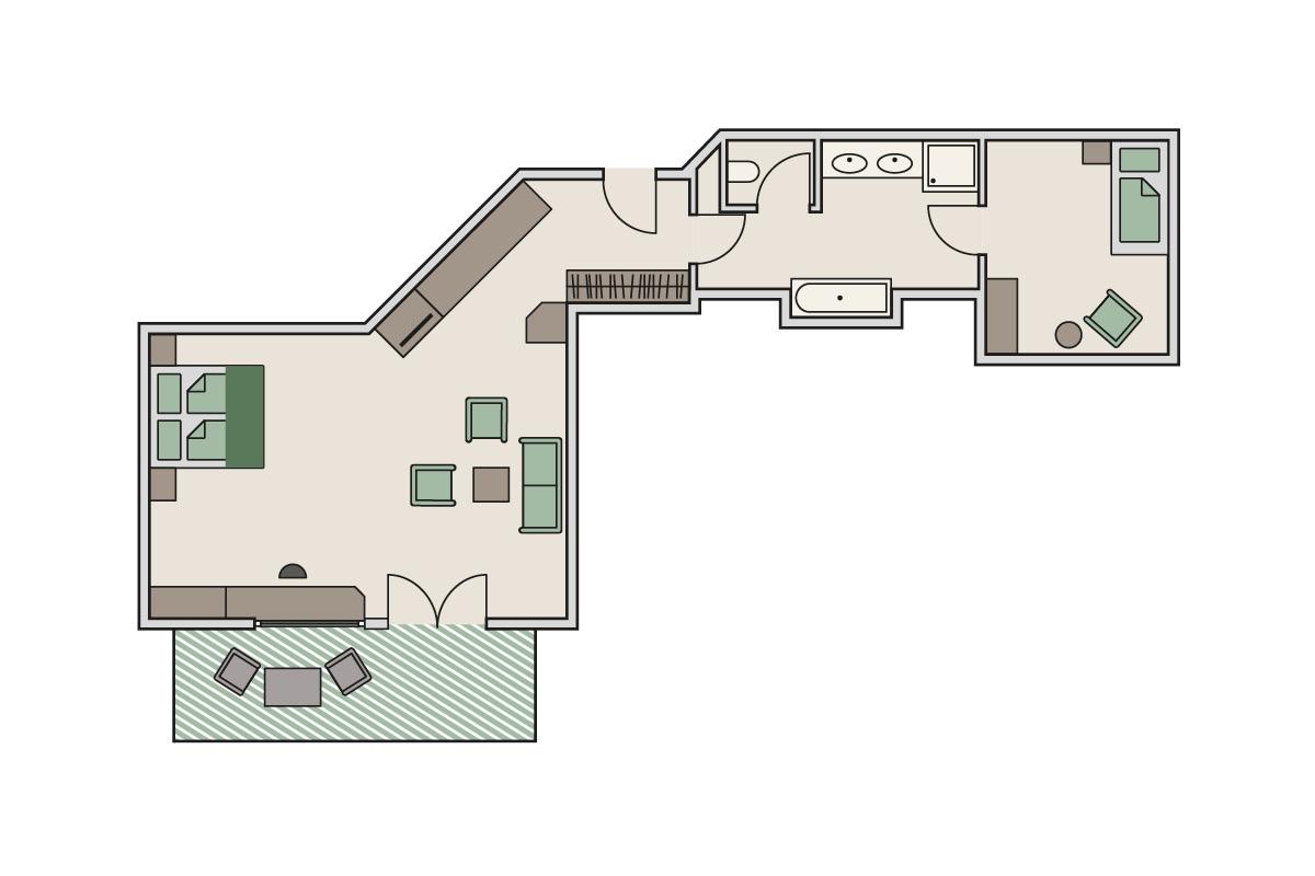 Zimmergrundriss Landhaus - Studio Panorama