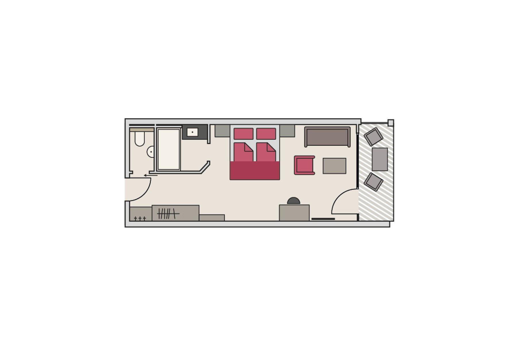 Zimmergrundriss Gutshof - Themenzimmer Schwalbennest