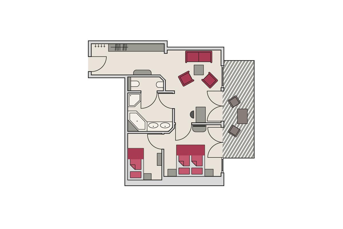 Zimmergrundriss Gutshof - Studio Panorama