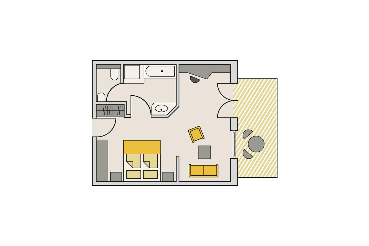 Zimmergrundriss Gutshof - Studio Gibel Exklusiv