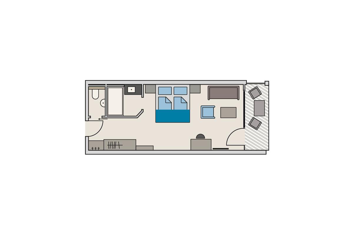 Zimmergrundriss Gutshof - Themenzimmer Jugetbach