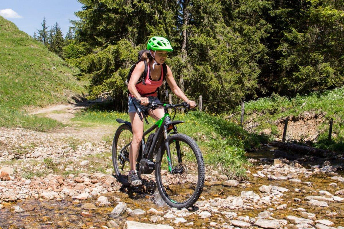 Eine Fahrt mit dem Mountainbike macht so richtig Spass