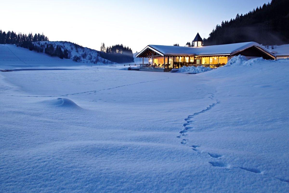 Winterstimmung Haus am See