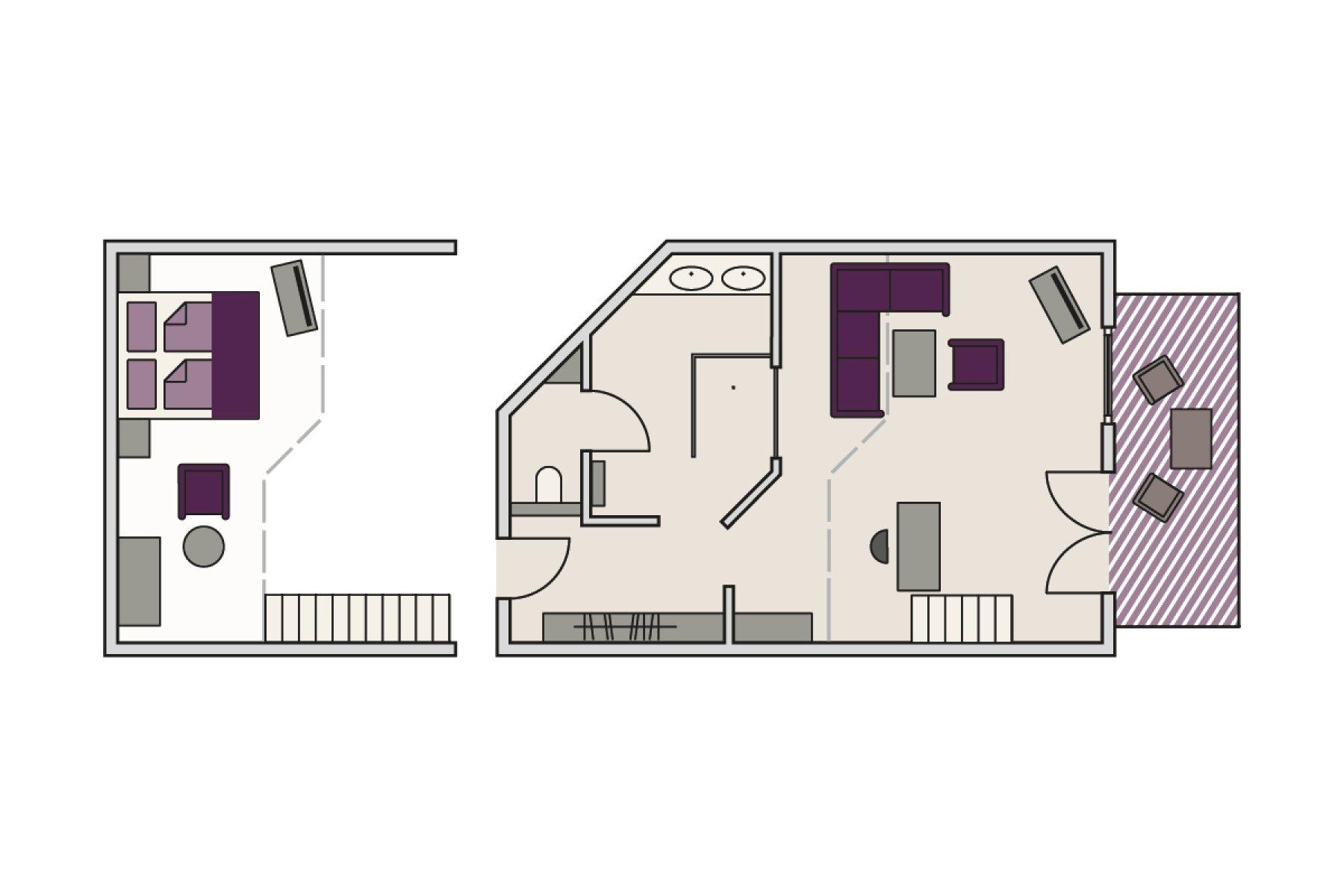 Zimmergrundriss Hochspitz-Hoch2