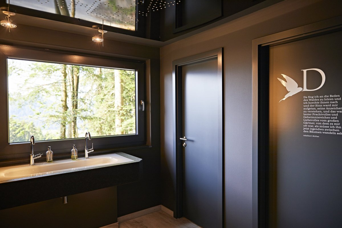 Toilette mit Panoramablick