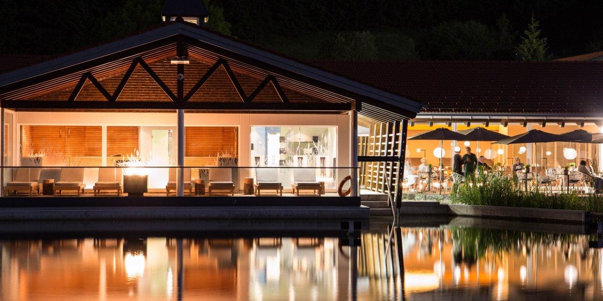 Abendstimmung Haus am See