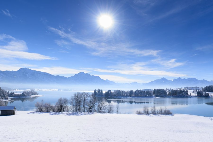 Winter am Forggensee