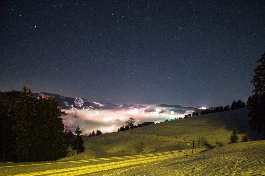 Silvester über dem Nebel