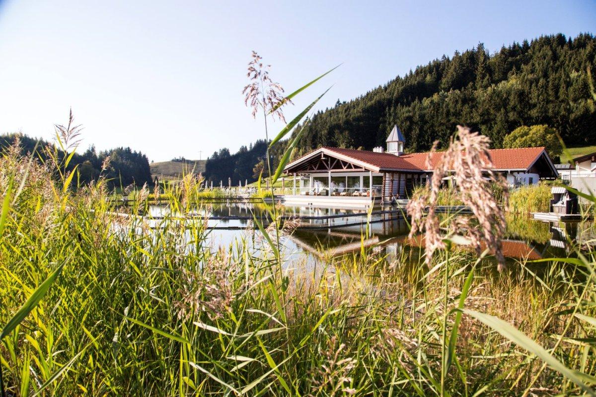 Natursee zur Herbstzeit