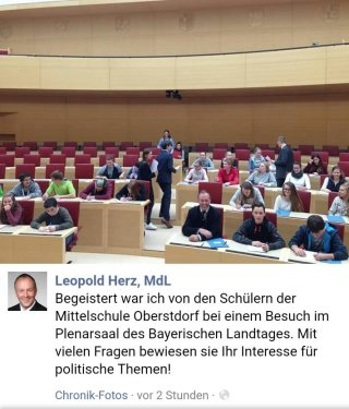 Facebook Post MdL Herz