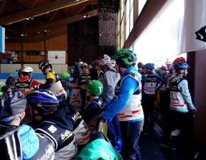 Eislaufen Startvorbereitungen