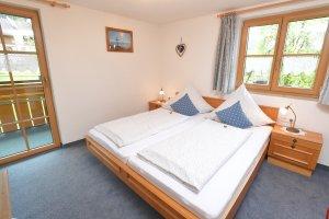 Ferienwohnung Rubihorn Schlafzimmer