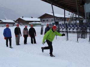 Warmup zum Biathlon Weltcup
