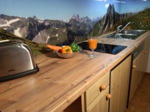 Küche mit Höfatsblick