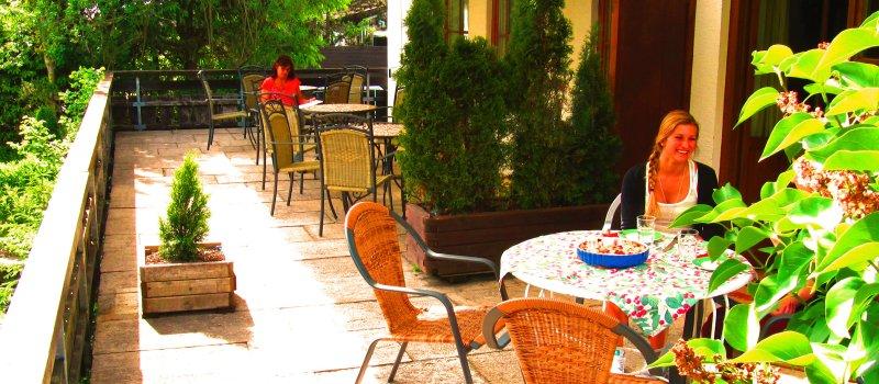 Terrasse Hotel garni Bergfreund