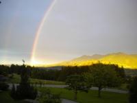 Regenbogen über Wertach