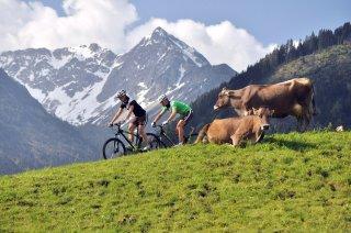 Moutainbiken und Rad fahren