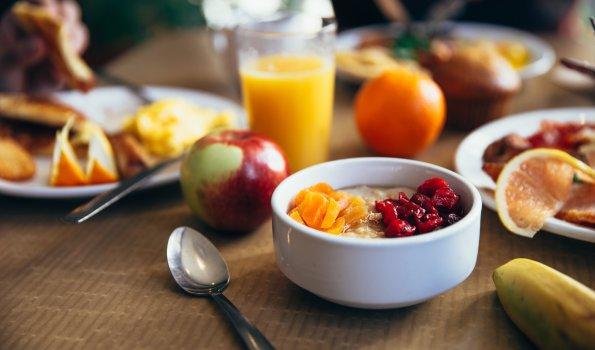 Frühstücksbuffet im Haus am Rank