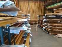Bretterstapel für den Holzschirm