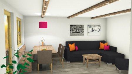 Ferienwohnung Rankwirt: Wohn-/Essbereich