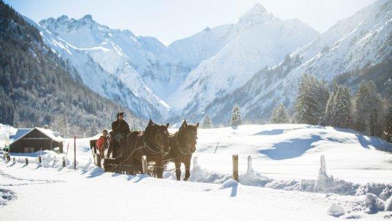 Pferdeschlittenfahrt in Oberstdorf