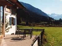 Sonnige Terrasse der FeWo Söllereck