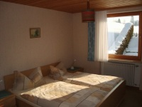 Schlafzimmer nach Osten mit Blick Richtung Rubihorn