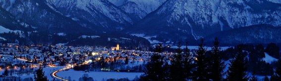 Oberstdorf Winter Nacht