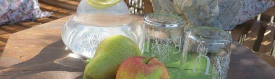 Apfel und Wasser