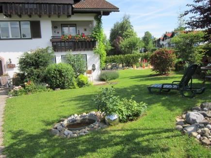 Gartenecke und Haus