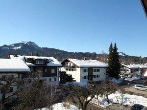 Ausblick Balkon Gästehaus Sinz Oberstdorf