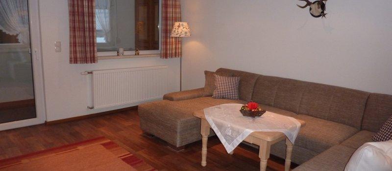 Ferienwohnung 1: Wohnzimmer