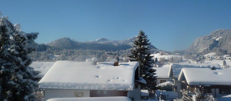 Blick über die Dächer Oberstdorfs