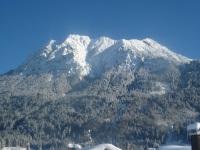Blick auf das tiefverschneite Rubihorn