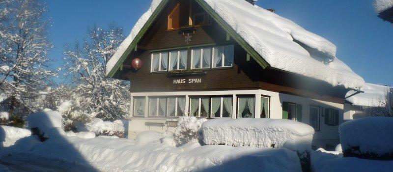 Haus Span in der Wintersonne