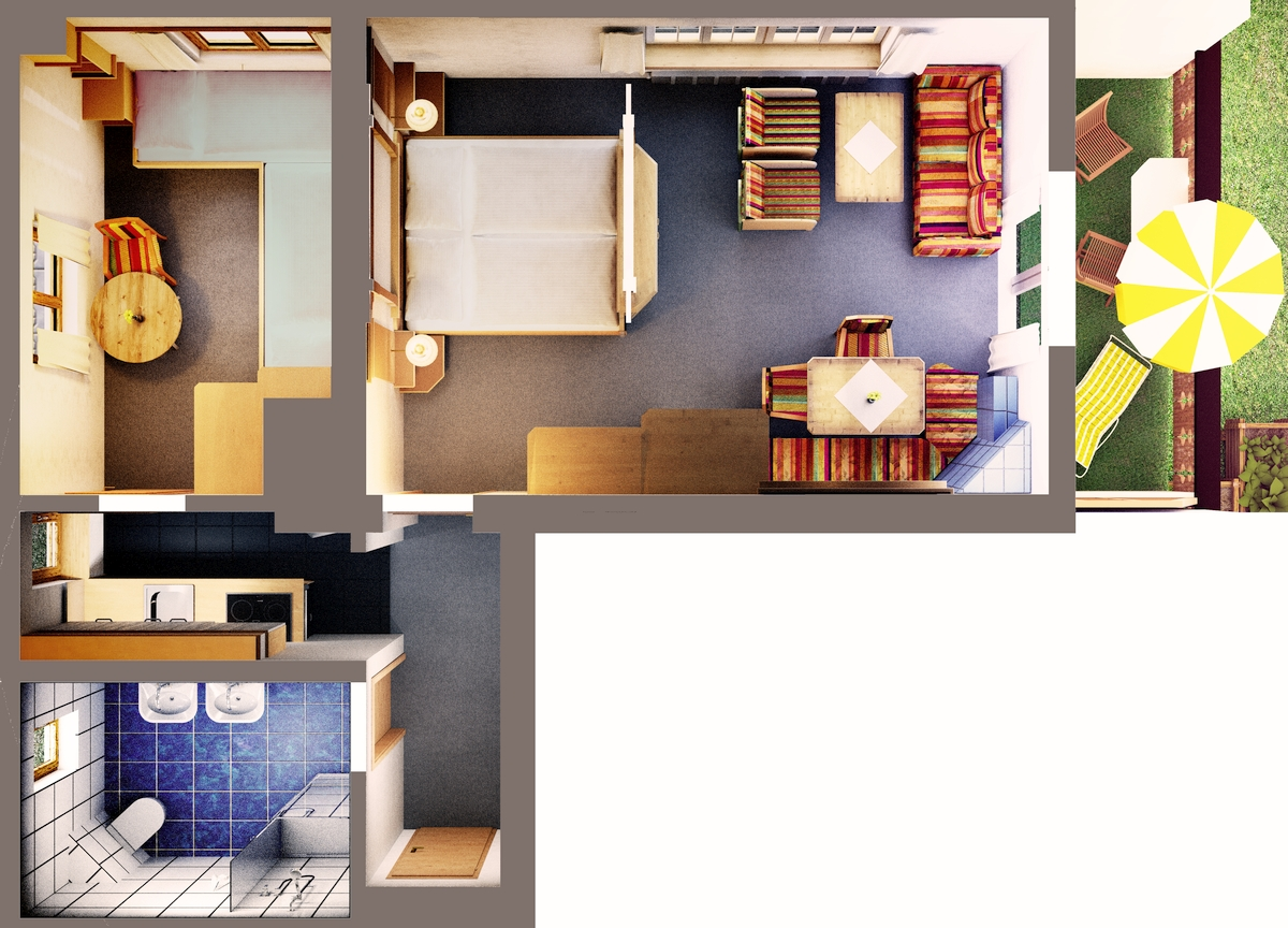 ferienwohnung 1. Black Bedroom Furniture Sets. Home Design Ideas