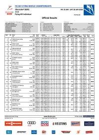 Ergebnis SkiflugWM 2018 Einzel