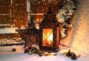 weihnachtliche Laterne