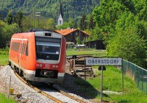 Anreise mit der Bahn nach Oberstdorf