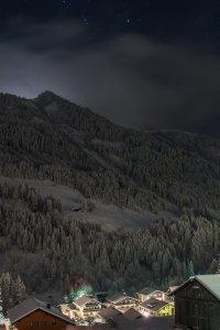 Hirschegg bei Nacht