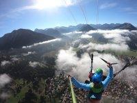 Himmelsritt Paragliding Bayern Tandemflug Herbst