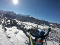 Gleitschirm Tandemflug Oberstdorf Winter Himmelsritt
