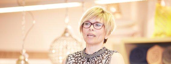 Evelyn Högerle erzählt von den Umbaumaßnahmen