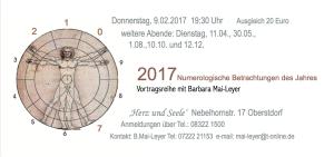 Numerologische Betrachtung 2017