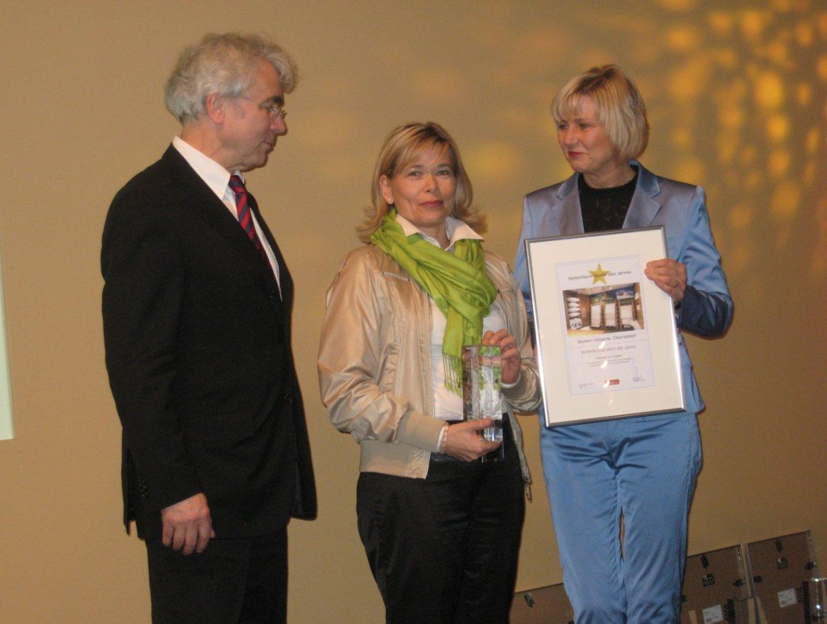 Auszeichnung Bettenfachhändlering des Jahres