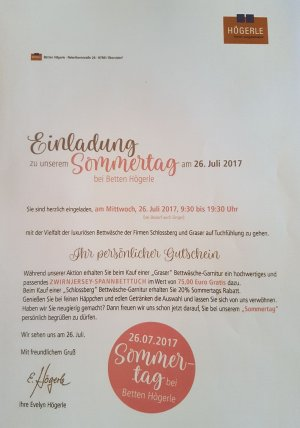 Einladung Sommertag